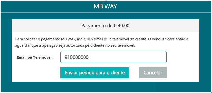 MB WAY - Confirmar contacto