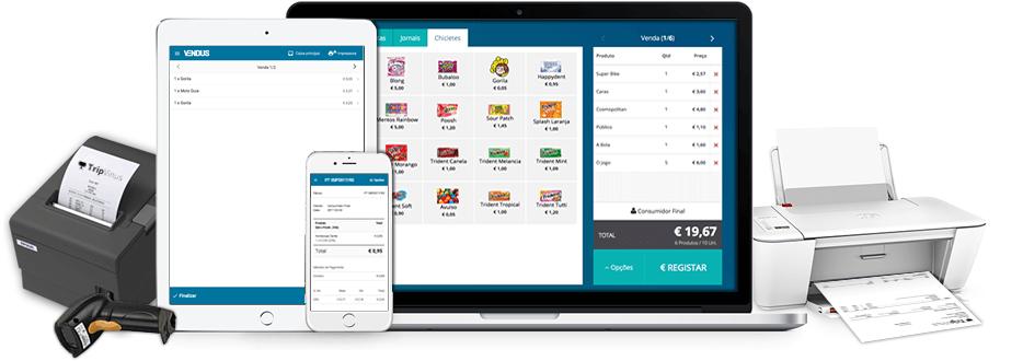 Software de facturação compatível com Impressora Talões, Tablet, Smartphone, Portátil, Impressora A4 em Windows, Mac, Linux, Android, IOS